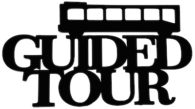 Guided Tour Scrapbooking Laser Cut Title with Bus