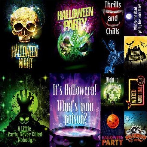 Halloween Party 12x12 Cardstock Scrapbooking Stickers