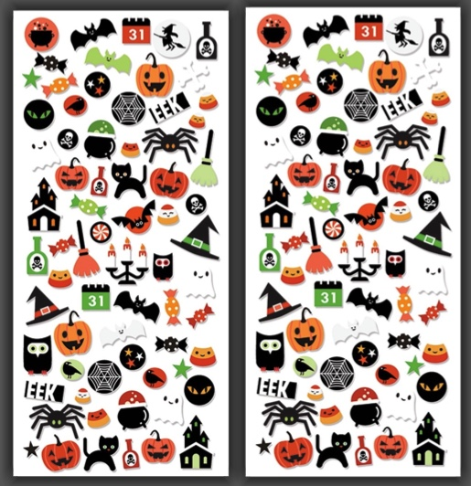 Halloween Micro Scrapbooking Stickers