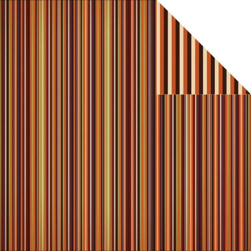 Halloween Stripes 12x12 Double Sided Scrapbooking Paper