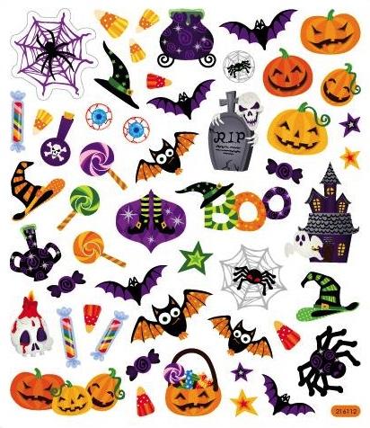 Halloween Icons Scrapbooking Stickers
