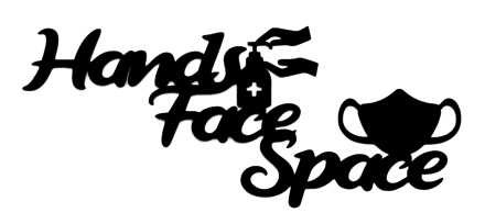 Hands Face Space Scrapbooking Laser Cut Title with Mask