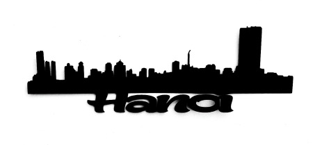 Hanoi Scrapbooking Laser Cut Title with Buildings