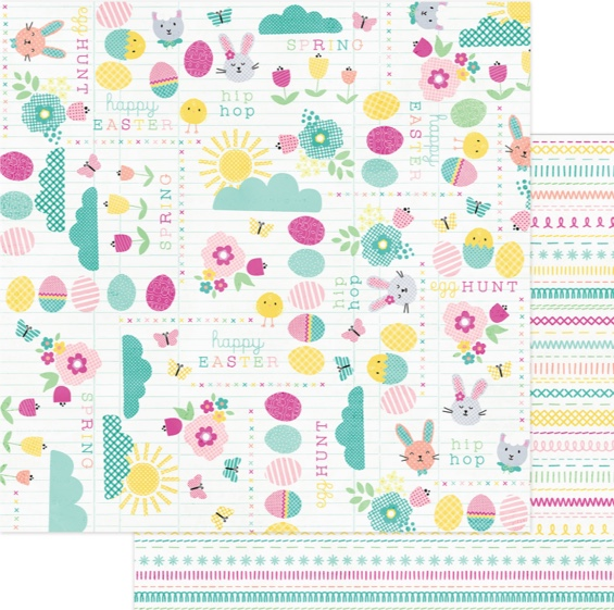 Happy Easter Double Sided 12x12 Scrapbooking Paper