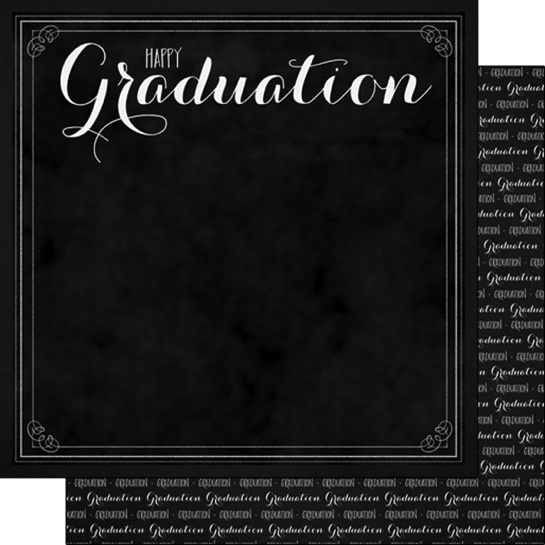 Happy Graduation 12x12 Double Sided Scrapbooking Paper