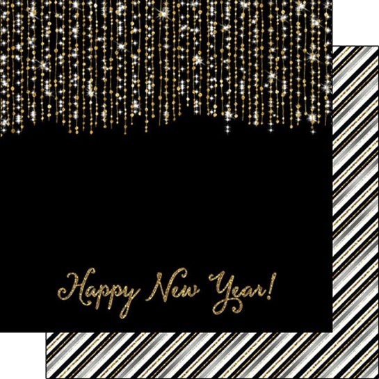 Happy New Year 12x12 Double Sided Scrapbooking Paper