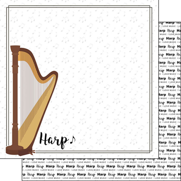 Harp 12x12 Double Sided Scrapbooking Paper