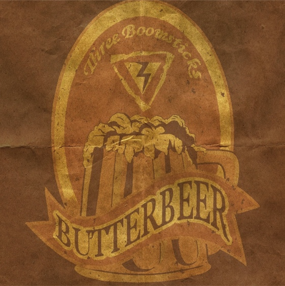 Harry Potter Butter Beer 12x12 Scrapbooking Paper