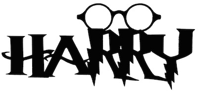 Harry Scrapbooking Laser Cut Title with Glasses