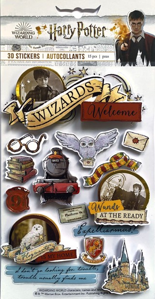 Harry Potter 3D Scrapbooking Stickers
