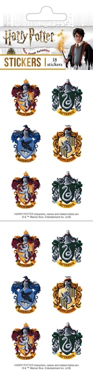 Harry Potter Crests Scrapbooking Sticker Pack
