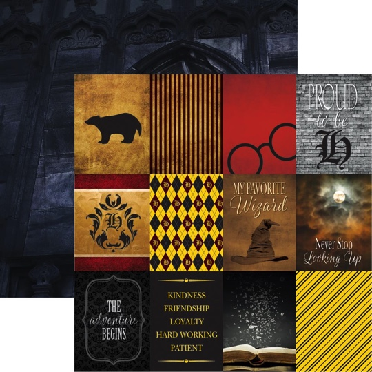 Harry Potter Magic Double Sided 12x12 Scrapbooking Paper