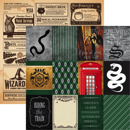 Harry Potter Mayhem 12x12 Double Sided Scrapbooking Paper