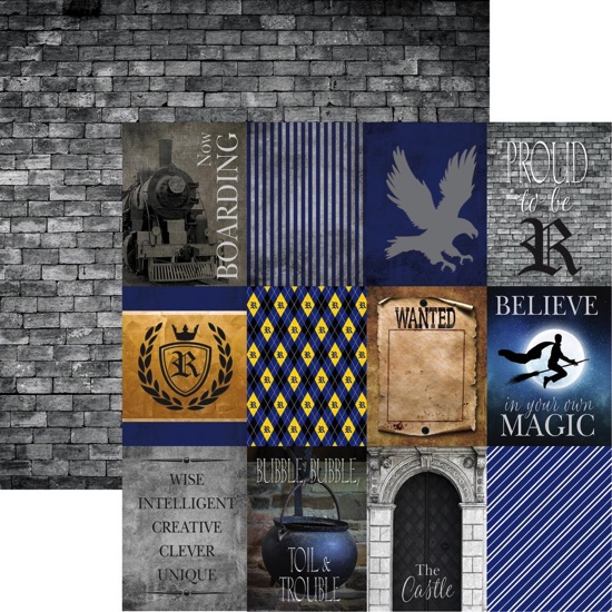 Harry Potter Wizardry Double Sided Scrapbooking Paper