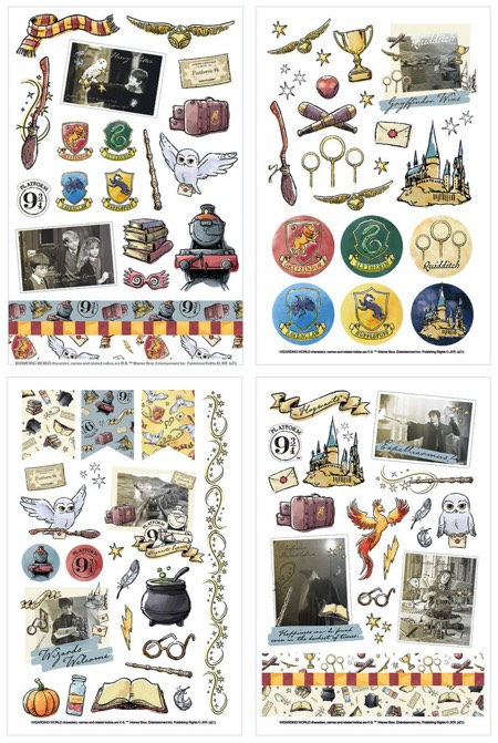 Harry Potter Scrapbooking Classic Sticker Pack - 4 Sheets