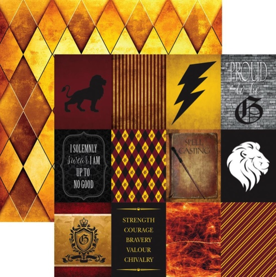 Harry Potter Spell Casting 12x12 Double Sided Scrapbooking Paper
