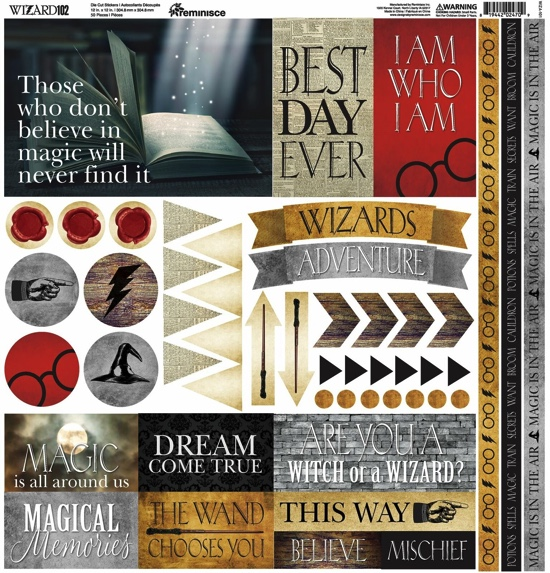 Harry Potter Wizard 12x12 Cardstock Scrapbooking Stickers and Borders