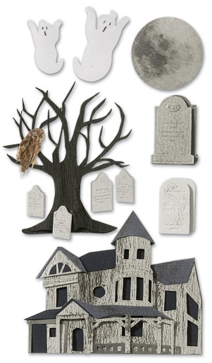 Haunted House Jolees 3D Large Scrapbooking Stickers