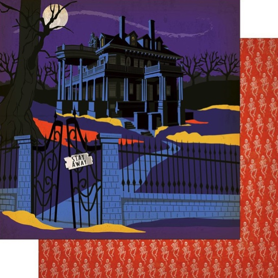 Haunted House Double Sided 12x12 Scrapbooking Paper
