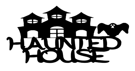 Haunted House Scrapbooking Laser Cut Title with House