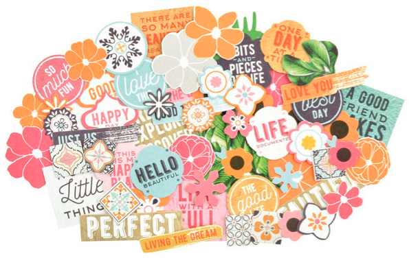 Havana Nights 58 Die Cut Scrapbooking Shapes