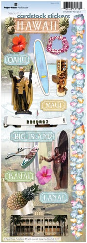Hawaii Cardstock Scrapbooking Stickers