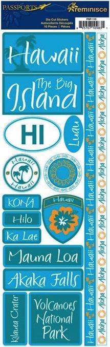 Hawaii Cardstock Scrapbooking Stickers and Borders