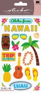 Hawaii Scrapbooking Stickers