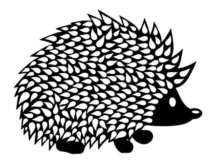 Hedgehog Intricate Scrapbooking Laser Cut
