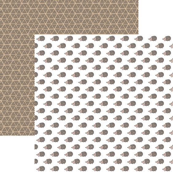 Hedgehogs 12x12 Double Sided Scrapbooking Paper