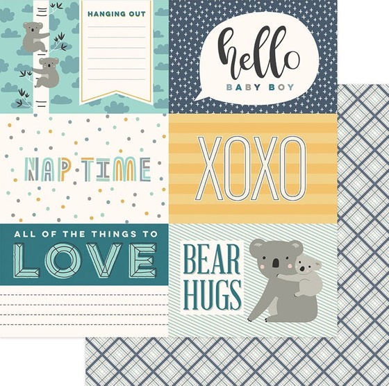 Hello Baby 12x12 Double Sided Scrapbooking Paper