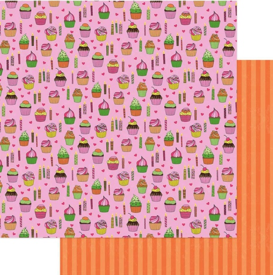 Hey Cupcake Double Sided 12x12 Scrapbooking Paper