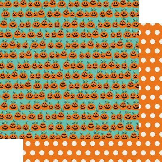 Hey Pumpkin Double Sided 12x12 Scrapbooking Paper