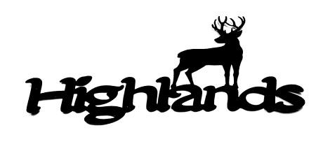 Highlands Scrapbooking Laser Cut Title with Stag