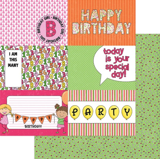 Hip Hip Hooray Double Sided 12x12 Scrapbooking Paper