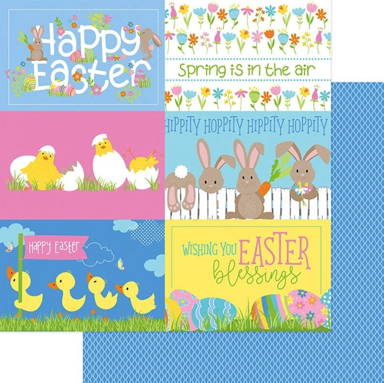 Hippity Hoppity Double Sided 12x12 Scrapbooking Paper