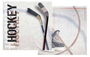 Ice Hockey 12x12 Double Sided Scrapbooking Paper