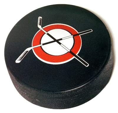 Ice Hockey Puck Scrapbooking Die Cut