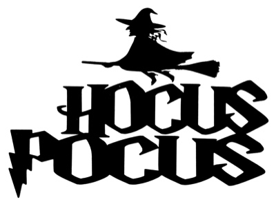 Hocus Pocus Scrapbooking Laser Cut Title with Witch