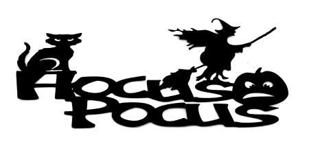 Hocus Pocus Scrapbooking Laser Cut Title with icons