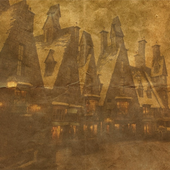 Harry Potter Hogsmeade 12x12 Scrapbooking Paper