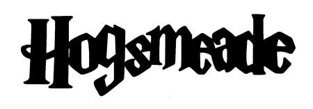 Hogsmeade Scrapbooking Laser Cut Title