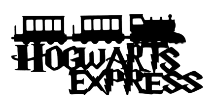 Hogwarts Express Scrapbooking Laser Cut Title with Train