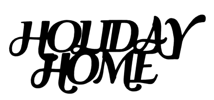 Holiday Home Scrapbooking Laser Cut Title