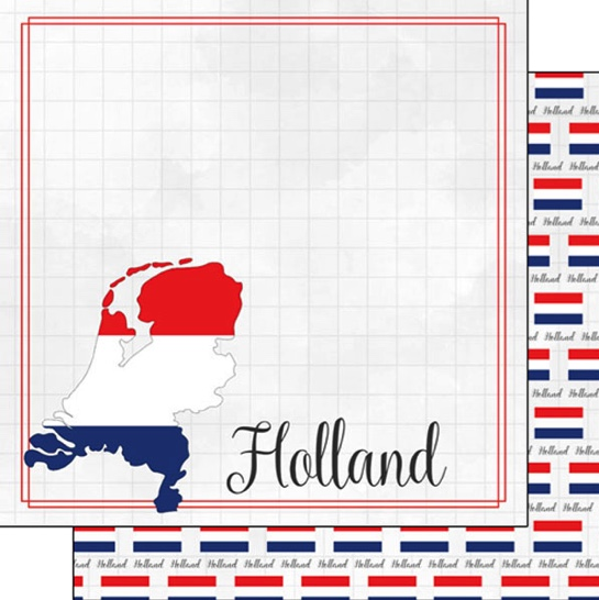 Holland 12x12 Double Sided Scrapbooking Paper