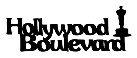 Hollywood Boulevard Scrapbooking Laser Cut Title with Oscar