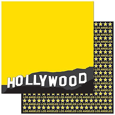 Hollywood Double Sided 12x12 Scrapbooking Paper