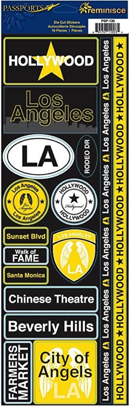 Hollywood Cardstock Scrapbooking Stickers and Borders