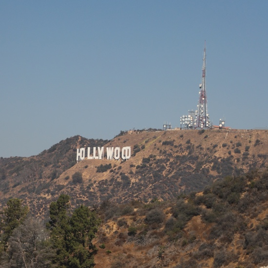 Hollywood Sign 12x12 Scrapbooking Paper