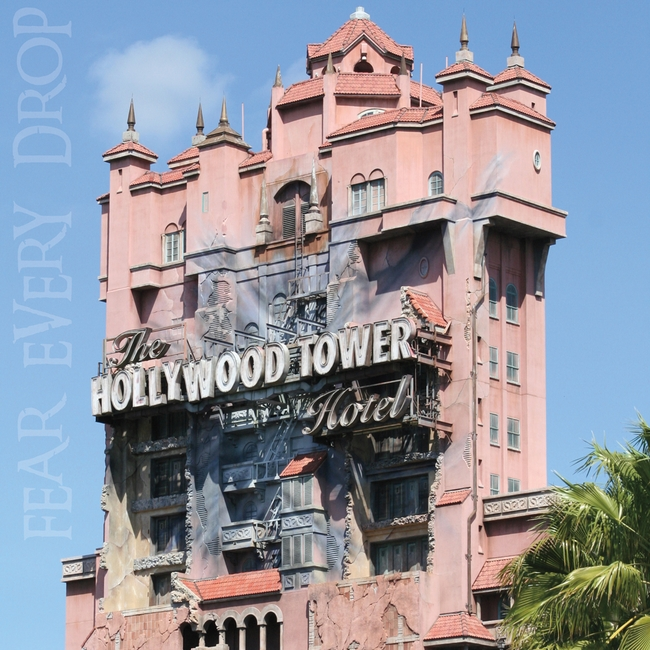 Hollywood Tower Hotel 12x12 Scrapbooking Paper